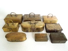 Antique Brass Betel leaf boxes collection
