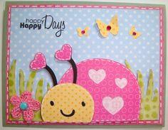 Cute card using Create a Critter Cricut cartridge
