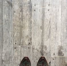 Bathroom Floor Cottage Grey Faux Wood Ceramic Tile from The Tile Shop Wood Ceramic Tiles, Faux Wood Tiles, Wood Look Tile, Floor Design, House Design, Modern Flooring, Flooring Ideas, Shanty 2 Chic, The Tile Shop