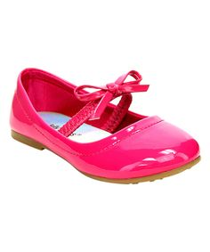 Look what I found on #zulily! Fuchsia Lookout Ballet Flat by Jelly Beans #zulilyfinds