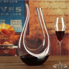 1500ml Crystal Glass U Shaped Horn Red Wine Decanter Wine Pourer Wine Container Champagne Water Bottle Drinking Glasses Gift #Affiliate