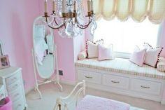 rosa Mädchenzimmer-klassischer Stil