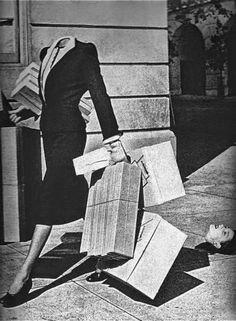 Photo by Grete Stern Grete Stern, Photomontage, Laurent Durieux, Herbert Matter, Poesia Visual, Weird Vintage, Vintage Stuff, Shop Till You Drop, Harlem Renaissance