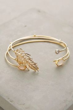 Beautiful gilded leaf bangle with ornate detail