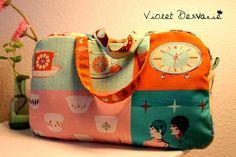 Bolso de viaje Bolso bebé / Travel bag Baby por VioletDesvarie