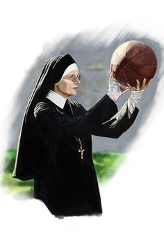 The Young Pope series. Diane Keaton / Sister Mary #theyoungpope #sistermary #nun #dianekeaton #basketball #ball #сестрамэри #молодойпапа #drawing #draw #art #illustration #series #sport