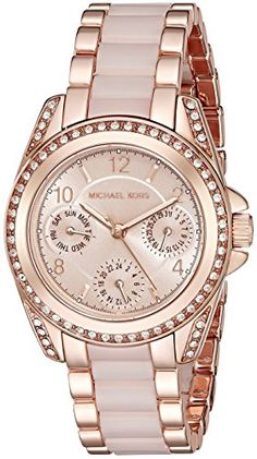 bed9e64897d Great gift idea Michael Kors Women s Mini Blair Rose Gold-Tone Watch MK6175 Designer  Watches