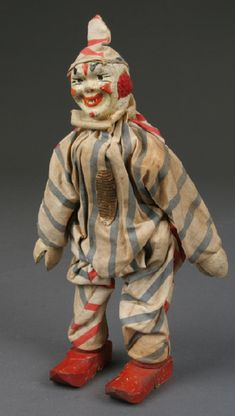 Vintage Circus, Vintage Dolls, Antique Toys, Vintage Antiques, Le Clown, Circus Clown, Punch And Judy, Pierrot, Modern Toys