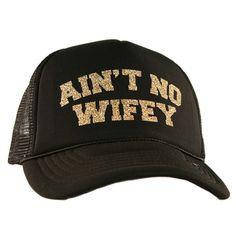 Katydid Ain't No Wifey Wholesale Glitter Trucker Hats