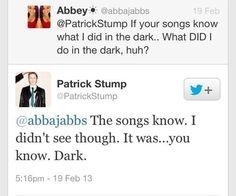 Why hello Patrick Stump