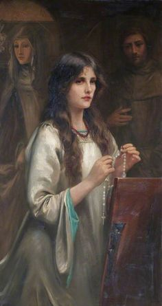 Beatrice Offor - The Rosary, c. 1900-1920. I say my rosary every day on my knees. God I hope, is pleased with the prayers of a poor broken sinner. May God have mercy on us all.
