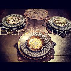 For the Presentation Plate and Dessert Plate I chose the Metallic Gold Balcon du Guadalquivir. And for the Dinner plate ... & Hermes dinner plates | glass porcelain ceramic | Pinterest ...