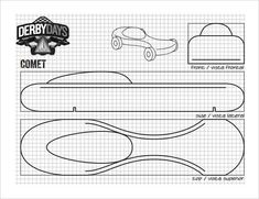Pinewood Derby Car Templates | 21 Cool Pinewood Derby Templates Free Sample Example Format