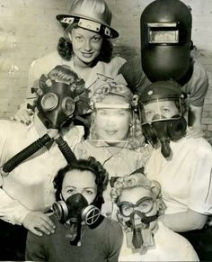 Gas masks, helmets.. everything you can imaging! ~