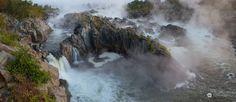 Great Falls Panoramic, Potomac River, Maryland, USA by landscape photographer Bernard Chen.