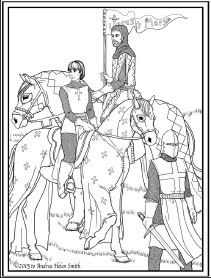 St. Joan of Arc Coloring Page