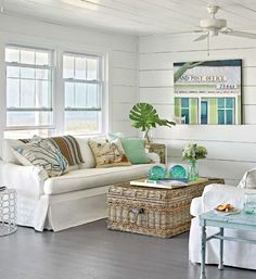 Coastal Cottage Decorating Coastal Decor. Beach House cottage decorating coastal living by the sea décor Nautical coastal feel.  I can hear the relaxing refreshing sound of the ocean ... listen..