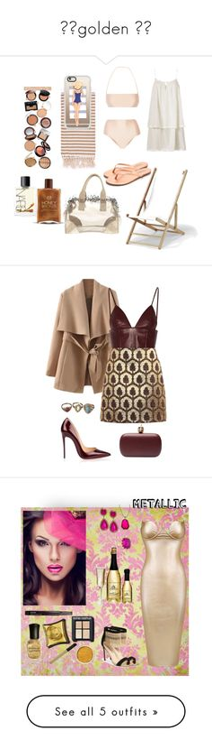 """""""⭐️golden ⭐️"""" by lulalalala ❤ liked on Polyvore featuring ADRIANA DEGREAS, Heidi Klein, Prada, NARS Cosmetics, Turkish-T, Tkees, Telescope Casual, Casetify, beach and coverups"""