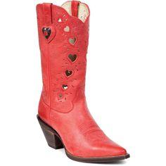Scott's Western Wear - Crush By Durango: Women's Red Heartfelt Boot, $119.95 (http://www.scottswesternwear.com/crush-by-durango-womens-red-heartfelt-boot/)