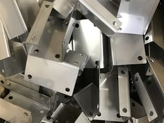 If you are looking for a custom manufacturer for your sheet metal brackets, look no further than V and F Sheet Metal. Sheet Metal Jobs, Stainless Steel Sheet Metal, Cnc Press Brake, Cad Cam, Cut Out Shapes, Metal Projects, Galvanized Steel, Folded Up, Bending