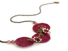 Crochet Jewelry/ Bohemian Jewelry/ Crochet Lace by PinaraDesign