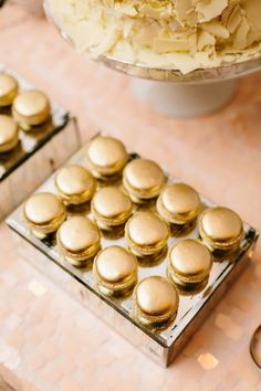 Golden macarons are perfect for a chic 30th birthday bash!