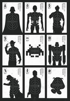 Shoot the Baddies by Olly Moss https://secure.flickr.com/photos/ollym/3171768774/
