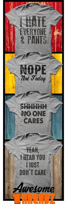LOL... Funny T-Shirts For Every Day. From Awesome Threadz