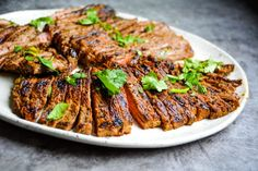 Authentic Carne Asada ( Easy & Delicious) » Kay's Clean Eats Jerky Recipes, Beef Recipes, Cooking Recipes, Carne Asada Grilled, Best Mexican Recipes, Ethnic Recipes, Authentic Carne Asada Recipe, Food Dishes, Main Dishes