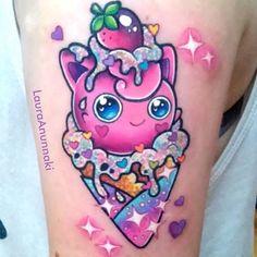 The Sparkly Kawaii Tattoos Of Laura Anunnaki - i need these sparklies!