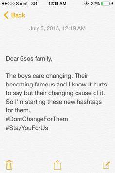 Please spread these #DontChangeForThem #StayYouForUs