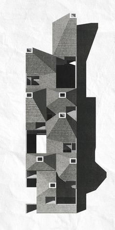 Schützen community housing - tilted view/ The Architectural Review Folio