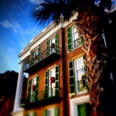 Historic mansion on East Battery in Charleston, South Carolina.