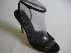 """http://www.madpinner.com/bcbg-maxazria-maxime-black-satin-strapy-women-shoes-8/  Delicate straps and modern details make this evening shoe a confident choice for a special occasion.  Spend the new MAXIME with this classic, timeless BCBG Max Azriaâ""""¢ style.  Smooth satin upper with open toe vamp.  Adjustable ankle strap with a metallic buckle closure.  Satin lining.  Lightly padded footbed.  Covered heel.  Leath..."""