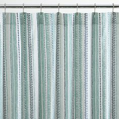Pearl Strings Shower Curtain | Crate and Barrel