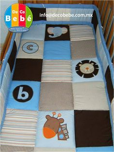 like the way the appliques were placed Safari, Giraffe, Elephant, Baby Boy Blankets, Appliques, Toddler Bed, Baby Shower, Quilts, Sewing