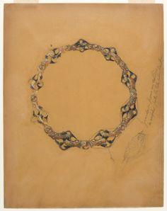 René Lalique : dessin pour un collier à motifs de poissons