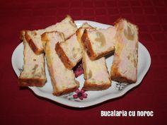 Chec aperitiv cu sunca, cascaval si ciuperci - Bucataria cu noroc Noroc, French Toast, Breakfast, Morning Coffee