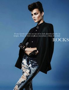 Keilani Asmus Gets Edgy For Gary Lupton In Elle Mexico's February 2013 Shoot 'Fashion Rocks' - SensualityNews.com - Fashion Editorials, Art & Sensual Living