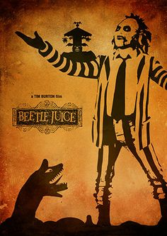 Beetle Juice Tim Burton Movie Poster Vintage Poster by TopPoster
