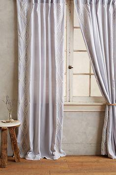 Velvet Embroidered Curtain #anthropologie