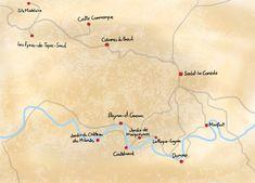 Karte Reiseroute Périgord   Sarlat-la-Canéda und Umgebung   Reisenavi Bordeaux, Dreams, Map, Travel, Madeleine, Walking Paths, Netherlands, Environment, France