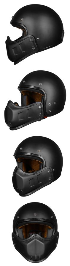 ILM Motorcycle Helmets Open Face 3/4 Half Helmet With Removable Chin Guard: 3 Colors
