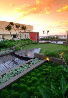 Rooftop garden - Design by Jan Blok