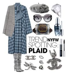 Plaid by igiulia on Polyvore featuring self-portrait, Off-White, Chanel, Kenneth Jay Lane, Miss Selfridge, Betmar, Tom Ford, Christian Dior, Lancôme and Rodarte