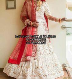 White And Red Bridal Lehenga Lehenga Anarkali, Lehenga Choli Images, Bridal Lehenga Images, Lehenga Choli Wedding, Designer Bridal Lehenga, Indian Bridal Lehenga, Bridal Outfits, Bridal Gowns, Party Wear Gowns Online