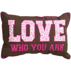 cute pink and brown pillow
