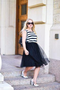 Midi Skirt, Tulle, Skirts, Tops, Fashion, Moda, Midi Skirts, Fashion Styles, Skirt