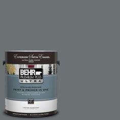 BEHR Premium Plus Ultra 1 Gal. #UL260 21 Antique Tin Satin Enamel
