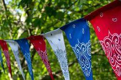 Bandana Banner | 14 DIY Bandana Design Projects, see more at http://diyready.com/14-diy-bandana-design-ideas